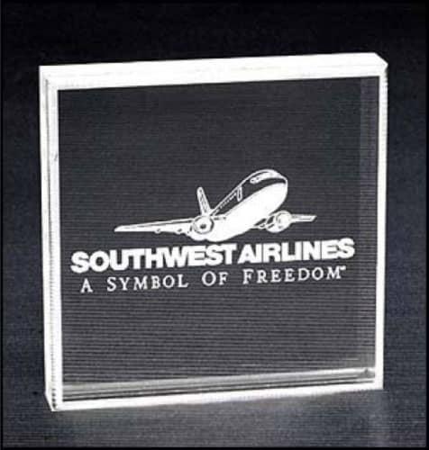 Custom Acrylic Award - Southwest Airlines