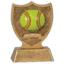6 inch Softball Sport Shield Award