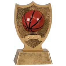 6 inch Basketball Sport Shield Award