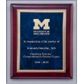 Sapphire marble / rosewood finish plaque