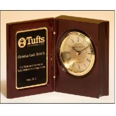 BC834 High gloss rosewood piano-finish book clock
