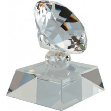 3 1/2 inch Crystal Diamond on Clear Base