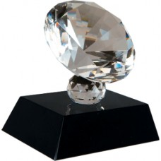 "3.5""  inch Crystal Diamond on a Black Base"