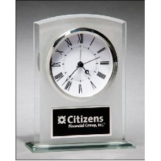 BC985  Glass clock with frosted top