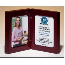 P4877  High gloss rosewood stained book award