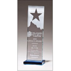 G2883  Etched clear glass award