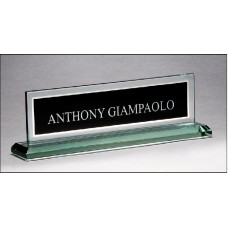 G2788  Glass name plate