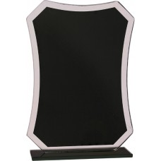 Black Rectangle Reflection Glass Award