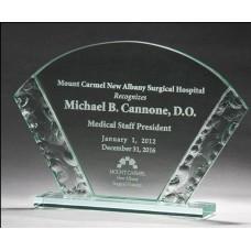 Fan-Shaped Jade Glass Award