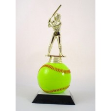 """New"" Softball Ball Trophy"