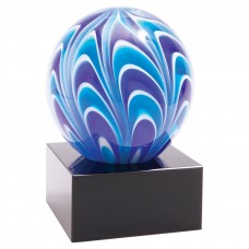 "AGS55    5"" Two-Tone Blue & White Sphere"