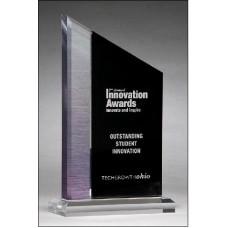 Digitally printed brushed silver award