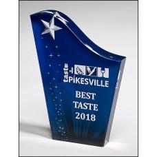 Blue Freestanding Acrylic Award