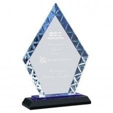 NEW   Diamond Glass on Blue Black Base
