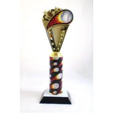Baseball Flame Trophy
