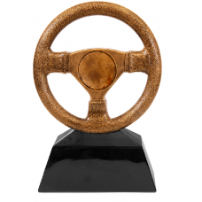 "Antique Gold Steering Wheel with 2"" Insert Area"
