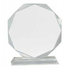 Clear Crystal Octagon on Clear Pedestal Base