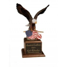 Large Resin Eagle on Walnut Base