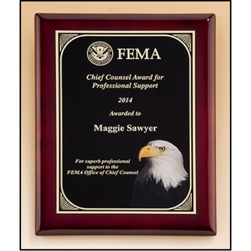 Rosewood piano finish plaque with eagle head - Plaque de finition ...