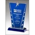 Constellation Series  Blue Glass Star Award