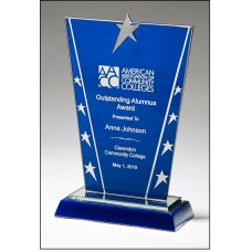Constellation Series  Blue Glass Star Award
