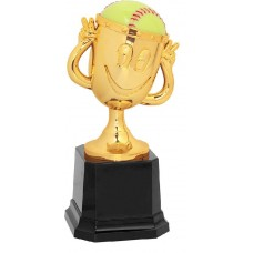 "6"" Softball Happy Cup Trophy"