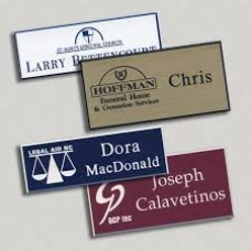 Plastic Name Tags 4 Sizes