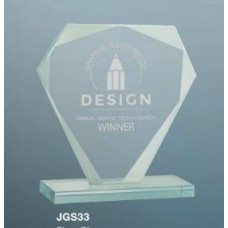 Cut Diamond Jade Glass Award