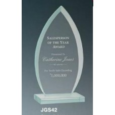 Oval Jade Glass Award