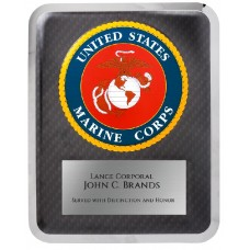 "10 1/2"" x 13"" Marine Hero Plaque"