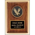 American walnut plaque with eagle medallion.