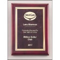 Ruby Marble / Rosewood Finish Plaque