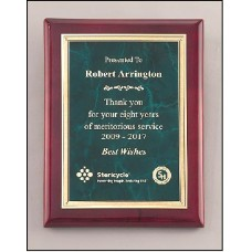 Emerald Marble / Rosewood Finish Plaque