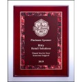 NEW  Red Marble Rosewood Plaque