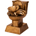 "6"" Antique Gold Toilet Loser Award"