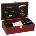 New  WBX61 Rosewood Finish Wine Box Set