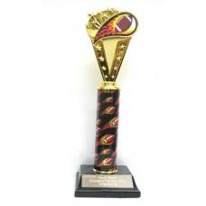 FB10FL Flame Football Trophy