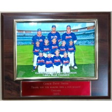 "Team Photo Plaque 8"" x 10"""