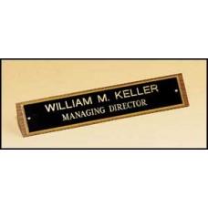 507/508  American walnut nameplate