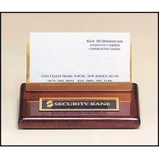 542 Rosewood Piano finish business cardholder