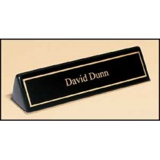 556 Black stained piano finish nameplate