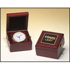 BC948 Mahogany Travel Clock