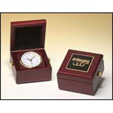 BC948 Mahogany Travel Clock