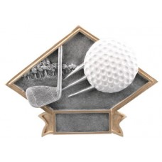 Large Diamond Golf Resin Plate