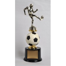 SOC04 Soccer Spin Ball Trophy