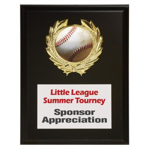baseball sponsor plaque 6 x 8