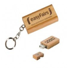 2GM Bamboo Flash Drive Square Style