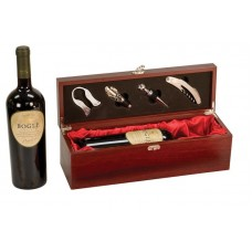 Rosewood Piano Finish Single Wine Box Set